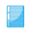 notebook paper page icon vector image vector image