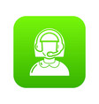 operator icon green vector image vector image