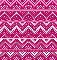Pink background with zig zag lines and dots vector image