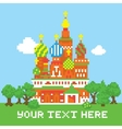 Pixel art isolated church vector image vector image