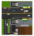 Plot road highway street with the store vector image vector image