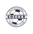 professional soccer football club badge closeup vector image