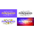 purchases flat line concept for web banner and vector image vector image