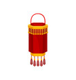 red chinese paper street lantern of cylindrical vector image