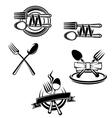Restaurant menu symbols vector image vector image