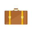 retro suitcase icon flat style vector image vector image