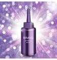 Revitalizing Serum for Hair Bottle Template for vector image vector image