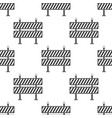 road barrier seamless pattern on white background vector image vector image