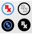 rx receipt symbol eps icon with contour vector image