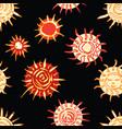 seamless pattern decorative drawn stars vector image