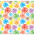 seamless pattern with octopus vector image vector image