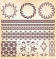 set beautiful vintage elements design vector image