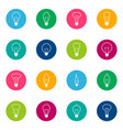 set of bulb icons on color background vector image vector image