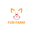 simple template logo icon pig and vector image