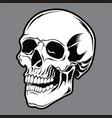 skull black 04 vector image vector image