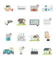 Smart House Icons Set vector image vector image