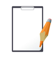 Tablet and pencil vector image
