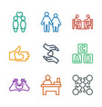 together icons vector image vector image