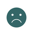 unhappy emoji colored icon upset unsatisfied vector image vector image