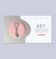 vintage key with heart shape to open any door vector image