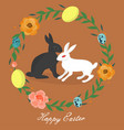 webeaster bunny in the century of eggs and flowers vector image