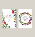 wedding invitations greeting card with summer vector image vector image