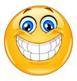 big smile emoticon vector image