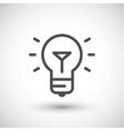Bulb line icon vector image
