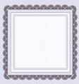 Certificate Blank Template vector image