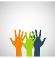 hands color abstraction eps vector image