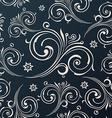 Seamless flowers wallpaper Vintage black vector image