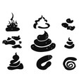 funny shit icons set vector image