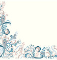 delicate floral abstract vector image