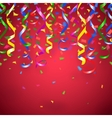 red party background vector image