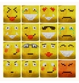 3d emoticon set emotional face icon yellow vector image vector image