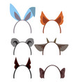 animal ears vector image vector image