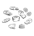 Bakery food vector image vector image
