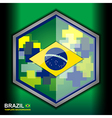 banner brazil color backgrounds vector image
