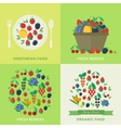 Banners with fresh berries and fruits Vegetarian vector image vector image