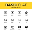 basic set picture icons vector image