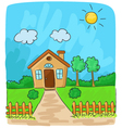 Beautiful view of the countryside vector image