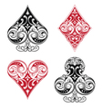 Black and Red Playing Card Ornament vector image vector image