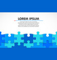 blue jigsaw puzzle blank simple background vector image