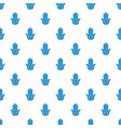 blue palm with eye pattern vector image