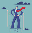 businessman moving up vector image