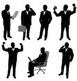 businessman silhouettes vector image vector image
