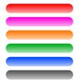 button banner bar shape design elements in 6 color vector image