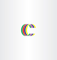 c letter colorful symbol sign logo vector image vector image