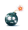 cartoon bomb fuse wick spark tooth icon ill vector image