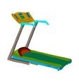 Cartoon treadmill flat icon vector image